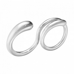 GEORG JENSEN MERCY DOBBELT RING - STERLING SØLV - STR 50-56