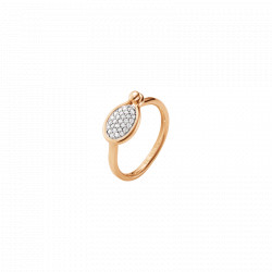 GEORG JENSEN SAVANNAH - LILLE RING - STR 52 -18 KT GULD - 0,11 CT DIAMANTER