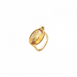 GEORG JENSEN SAVANNAH - STOR RING - STR 56 -18 KT GULD - CITRIN