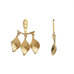 STINE A THREE DANCING ILE DE L´AMOUR BEHIND EAR ERRING GOLD