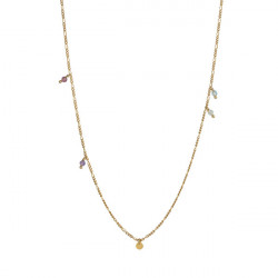STINE A PETIT COIN AND STONES PENDANT CHAIN GOLD