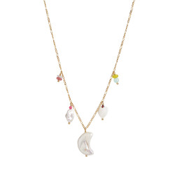 STINE A SHORT MIDNIGHT MOON NECKLACE GOLD WITH FIVE PENDANTS