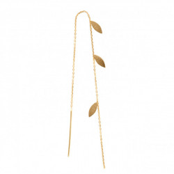 STINE A THREE LEAVES EARRING PIECE GOLD