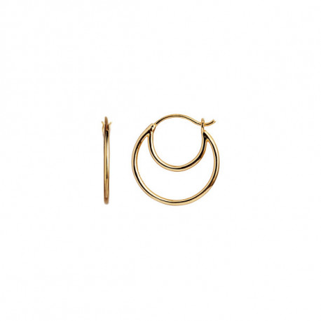 STINE A DOUBLE CREOL EARRING GOLD
