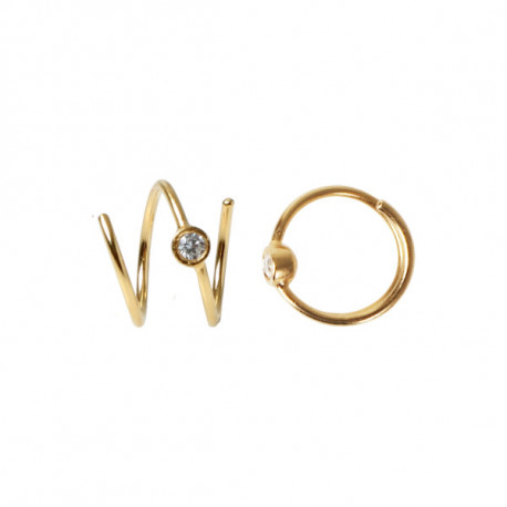 STINE A BIG DOT CURL EARRING GOLD - RIGHT