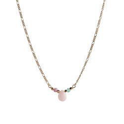 STINE A CANDY DROP NECKLACE WITH PINK OPAL, GREEN JADE AND PINK TURMALIN