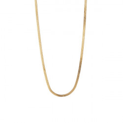 STINE A SHORT SNAKE NECKLACE GOLD