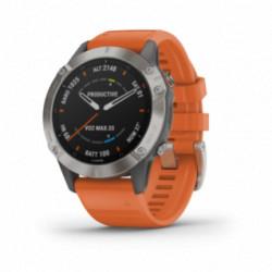 Garmin - Fenix 6 - Pro og Sapphire med ember-orange rem