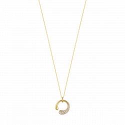 MERCY HALSKÆDE med åben Vedhæng 18 Kt. Guld, Diamanter
