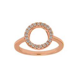 JOANLI NOR - ROSA FORGYLDT RING ANNANOR 10 MM
