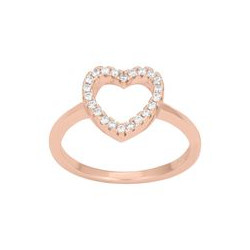 JOANLI NOR - ROSA FORGYLDT RING AIDAENOR 11 MM