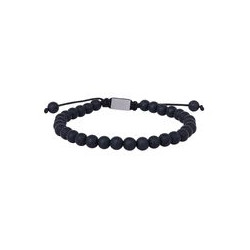 SON OF NOA SON bracelet matt black onyx 19cm - 25cm