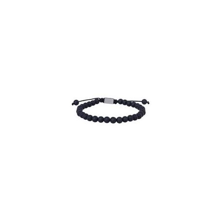 SON OF NOA SON bracelet matt black onyx 19cm - 25cm