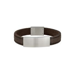 SON OF NOA SON bracelet grey calf leather 21cm 12mm