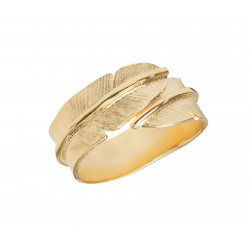 HEIRING FEATHER GOLD RING