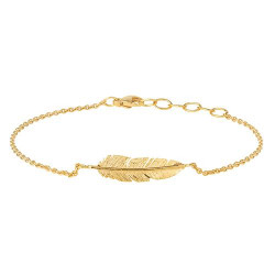 HEIRING FEATHER GOLD ARMBÅND