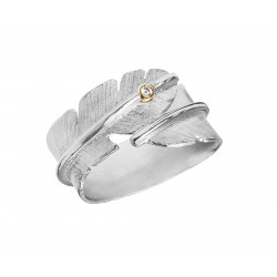 HEIRING FEATHER DIAMOND RING