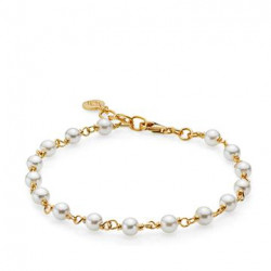 IZABEL CAMILLE - Miss Pearl - Armbånd Guld White Pearl