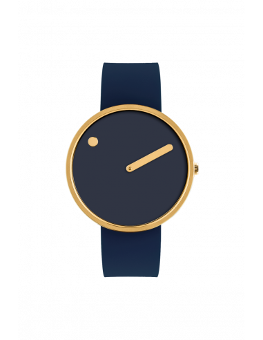 PICTO - 40 MM MIDNIGHT BLUE/BLANK GULD
