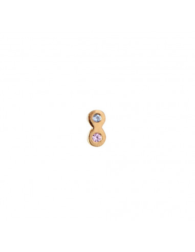 STINE A TWO CANDY DOTS EARRING GOLD