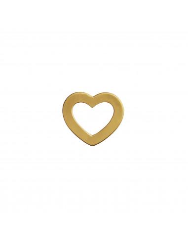 STINE A OPEN LOVE HEART PENDANT GOLD